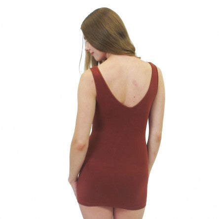 Short Basic Layering Tank- Sienna
