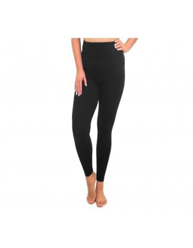 High Waisted Basic Leggings Full Length CURVY/PLUS - Black