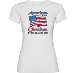 American by Birth Christian by the Grace of God T-Shirt - TruthWear Clothing