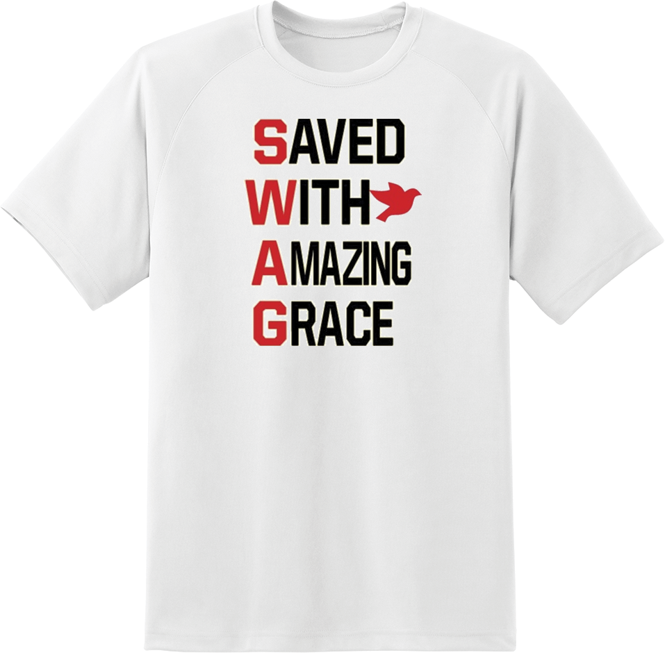 Saved With Amazing Grace (SWAG) T-Shirt - TruthWear Clothing