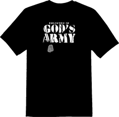 Enlist In God's Army T-Shirt - TruthWear Clothing