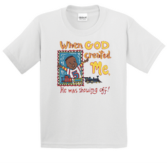 Boy's & Girl's When God Created Me T-Shirt - TruthWear Clothing