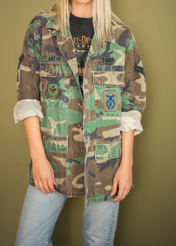 Vintage Camo Air Force Jacket