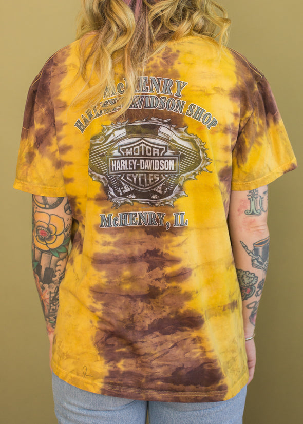 Vintage Tie Dye Throttle it Out Harley Tee