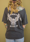 Vintage 1980s Harley Off The Shoulder Tee