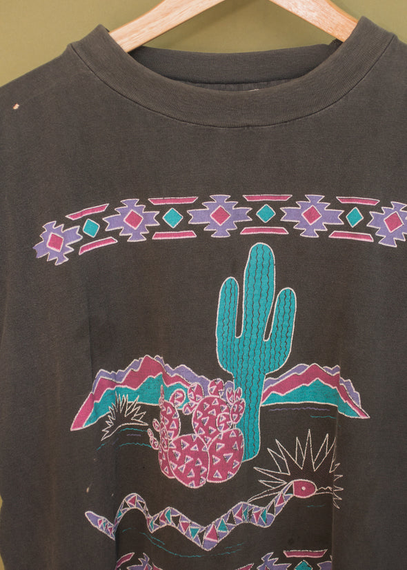 Vintage 90s Thin Faded Southwestern Tee
