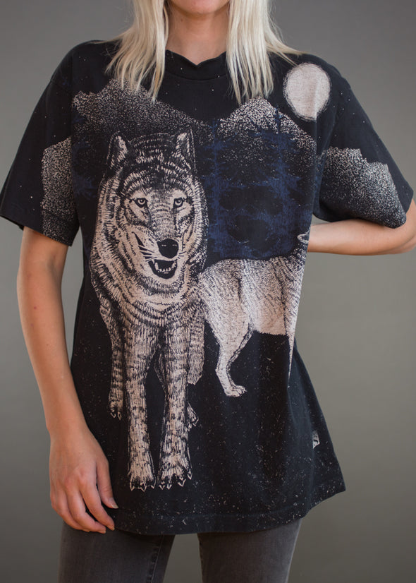 Vintage 90s Howling Wolf Tee