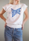 Vintage David Bowie Short Sleeve Sweatshirt