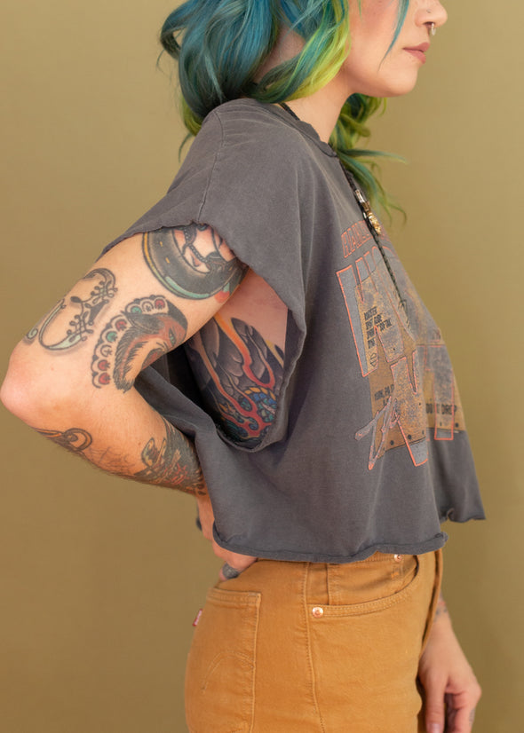 Vintage 90s Grungy Harley Cropped Tank