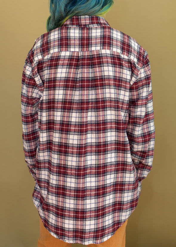 Vintage Soft Red Plaid Flannel