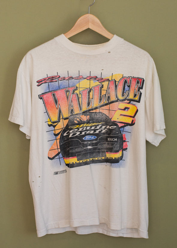 Vintage 90s Rusty Wallace Faded Tee