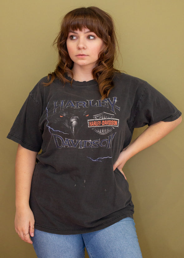 Vintage 90s Faded Harley Thunder Eagle Tee
