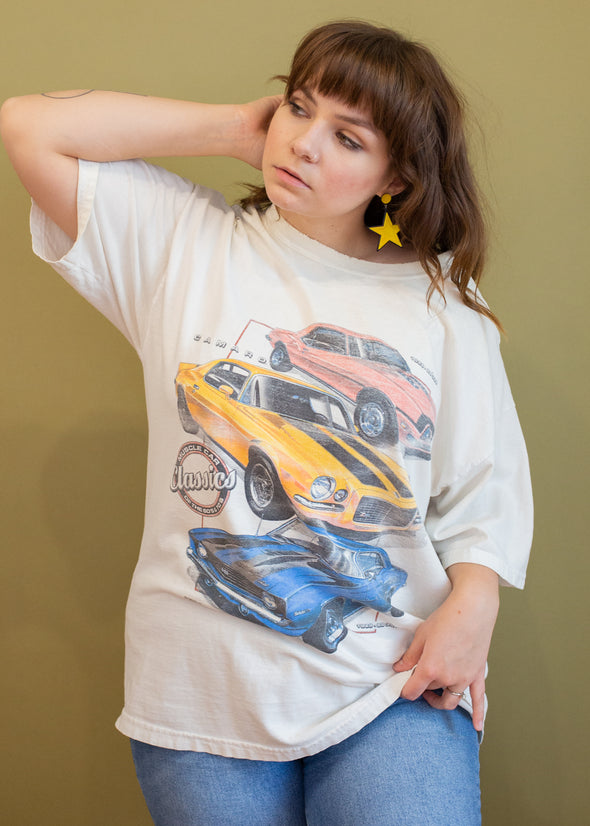 Vintage 90s Faded Muscle Car Tee