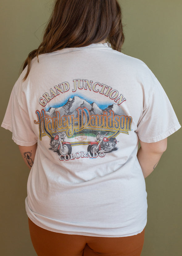 Vintage 90s Harley Grand Junction Grungy Pocket Tee
