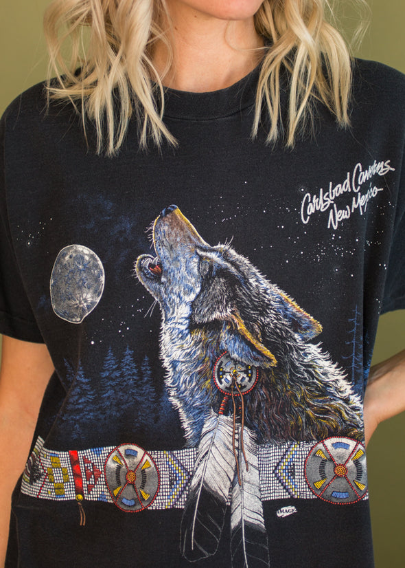 Vintage 90s New Mexico Wolf Tee