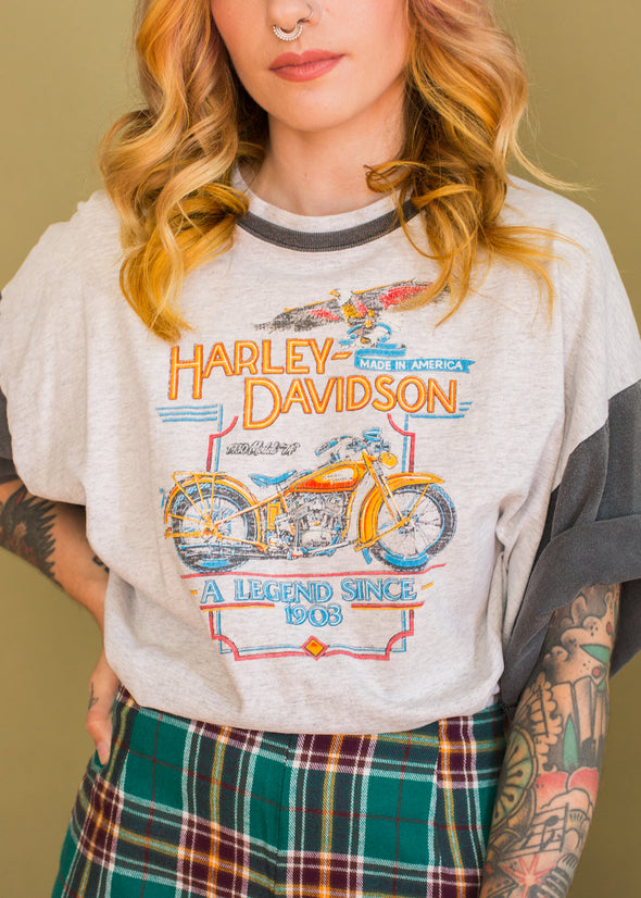 Vintage 90s Two Toned Harley Tee