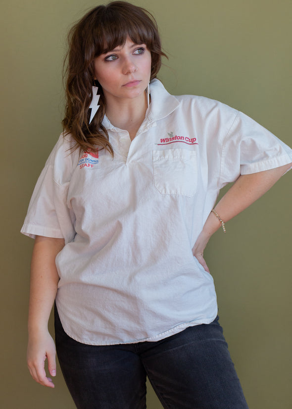 Vintage 90s Budweiser Winston Cup Polo