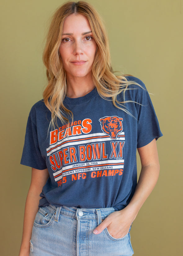 Vintage Thin 1985/86 Super Bowl XX Tee