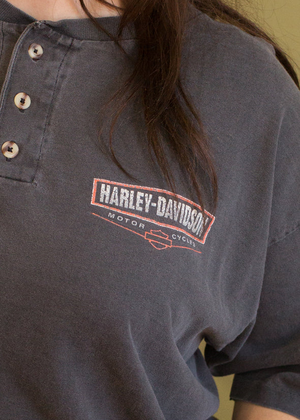 Vintage 90s Faded Harley Henley