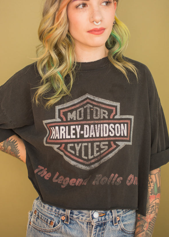 Vintage Harley The Legend Rolls On Tee