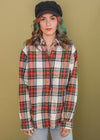 Vintage Plaid Single Pocket Flannel