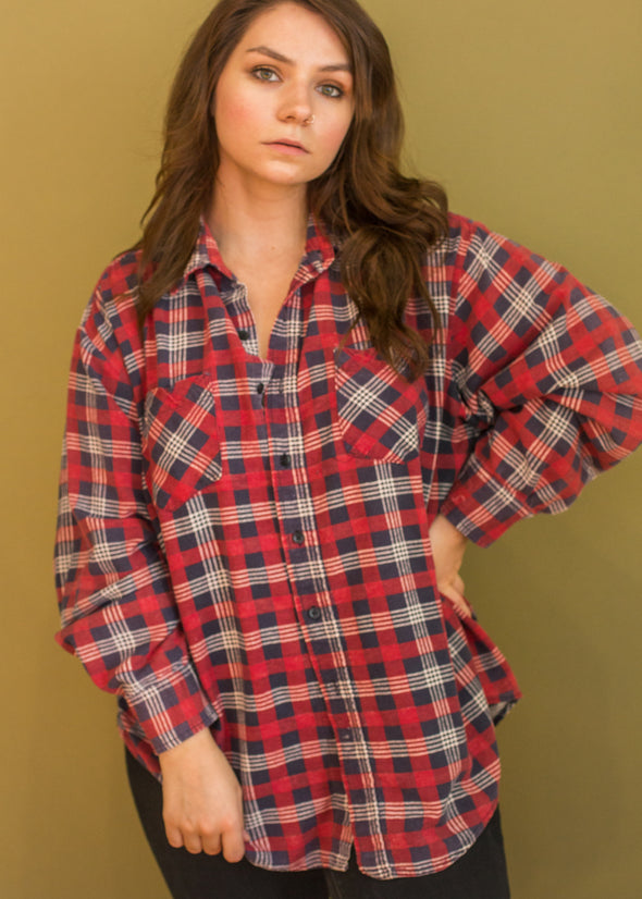 Vintage 90s Plaid Flannel