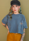 Vintage 90s Cropped Harley Pocket Tee