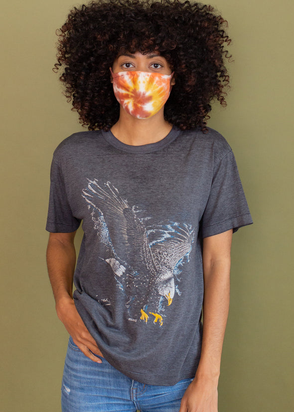 Vintage 1980s Paper Thin Faded Eagle Tee