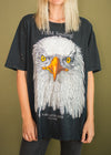 Vintage 90s I AM Smiling Alaska Eagle tee