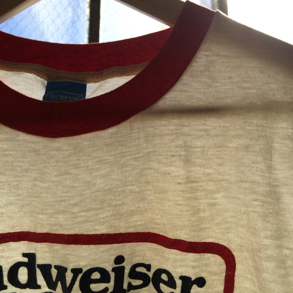 Vintage 1980's Budwesier Light Ringer Tee