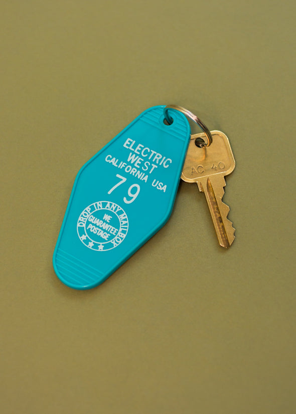 Retro Electric West Motel Keychain- Multi Colors