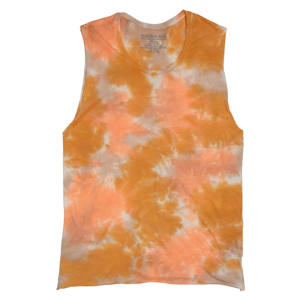 """Golden Hour"" Tie Dye Muscle Tank"