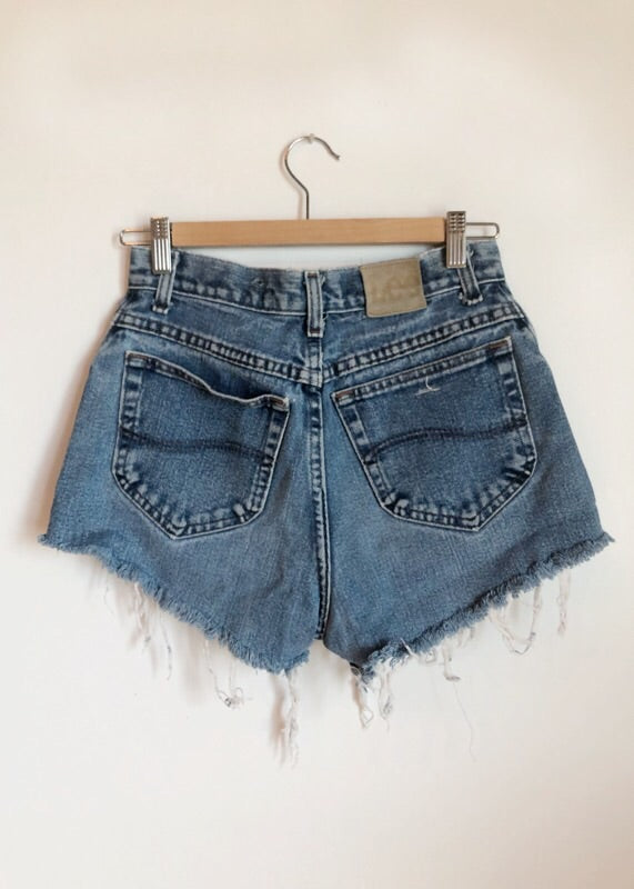 Vintage Lee Distressed Cutoffs 26