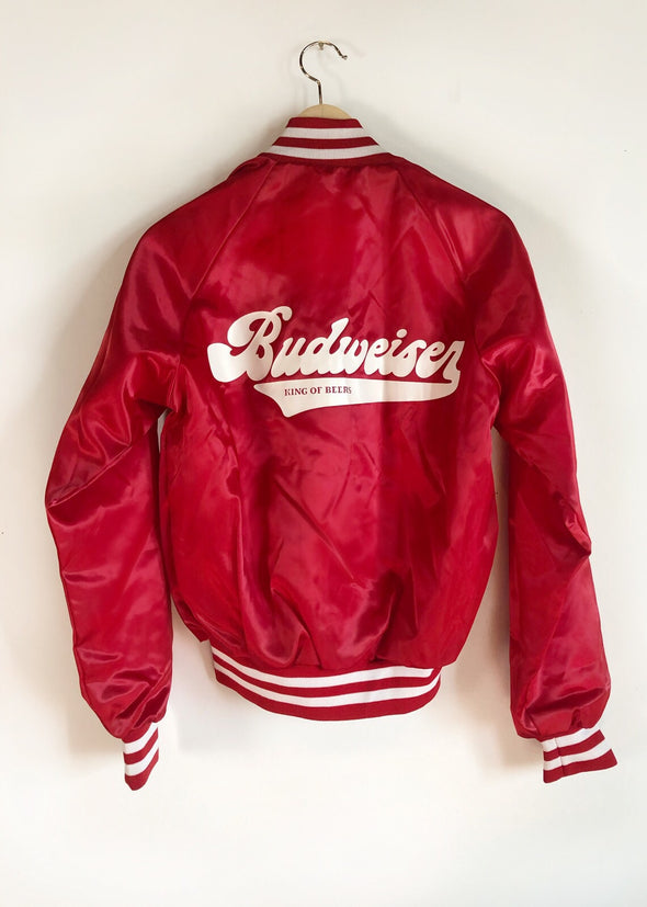 Vintage Budweiser King of Beers Bomber Jacket