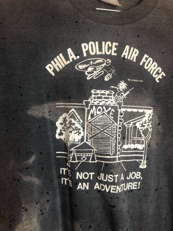 Vintage Phila. Police Air Force Grungey Tee