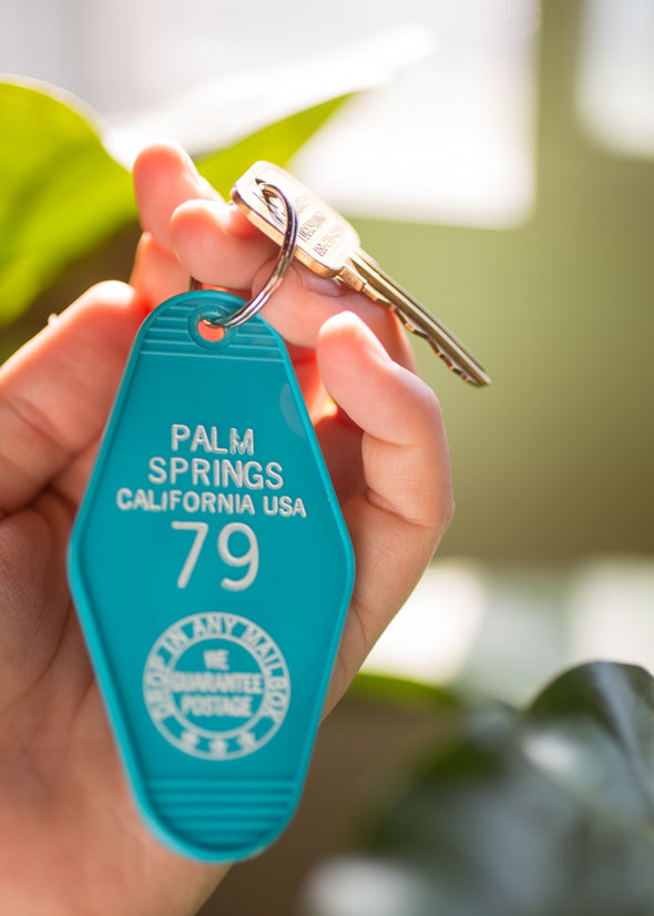Palm Springs Retro Keychain