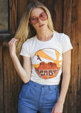 vintage 70s inspired sedona arizona desert graphic t-shirt