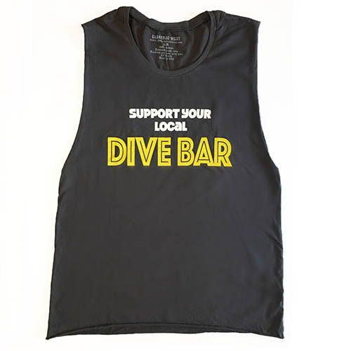 Support Your Local Dive Bar Muscle Tank
