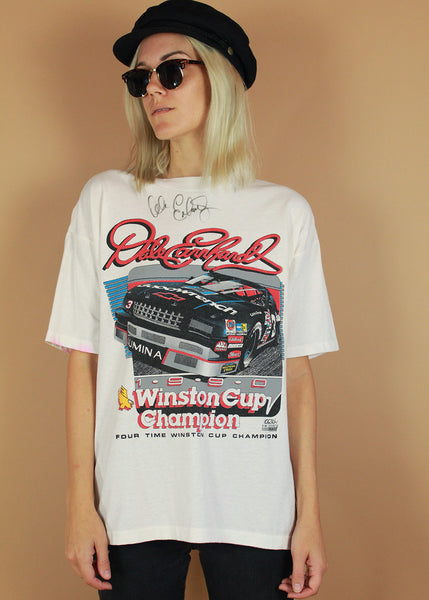 Vintage 1990 Winston Cup Dale Earnhardt Autographed Tee