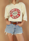 Vintage Iron City Beer Cropped Tee