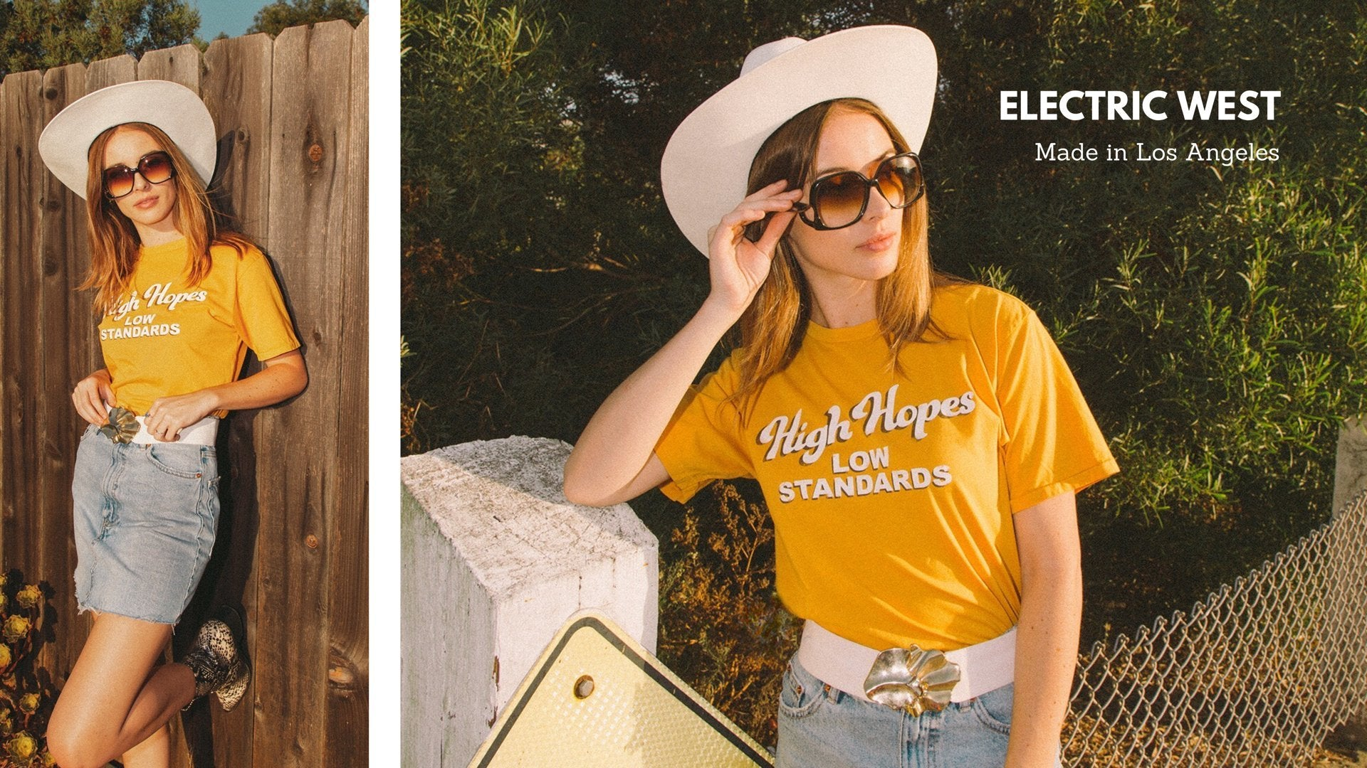 High Sierras 70's electric west ringer tee