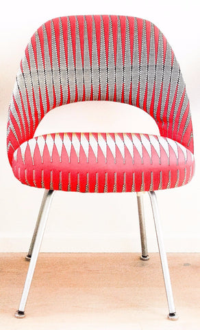"""Red Spikes"" Lounge  Chair"