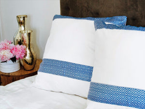 "Decor Pillow ""Addis Blue"""