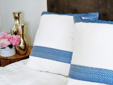 """Addis Blue"" large Decor Pillow"