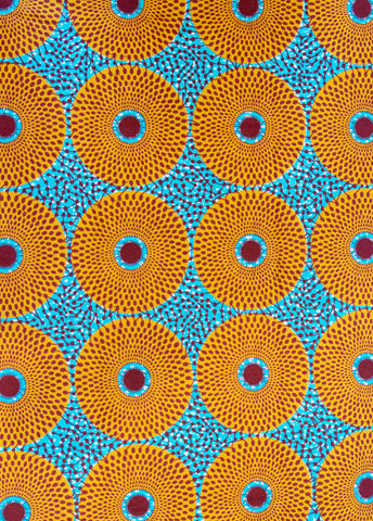"""Aqua Wheels"" Wax Print"