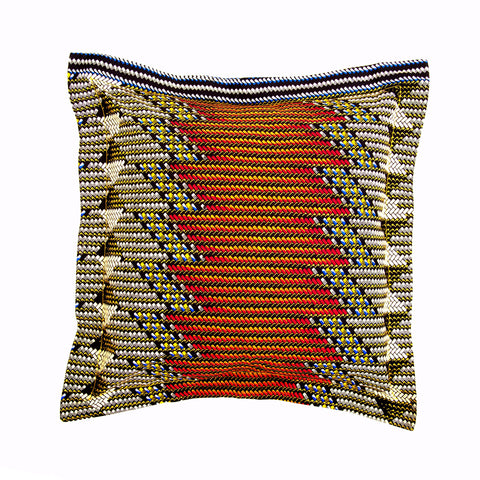"""Brown Geometric"" Decor Pillow"