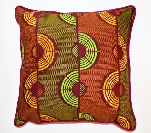 """Autumn Flow"" Square Wax Print Pillow"