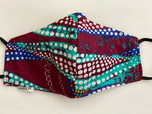 "Wax Print Face Mask - (One sided print) ""Ankara A"""