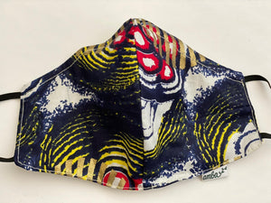 "Wax Print Face Mask - (One sided print) ""Ankara E"""