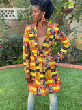 "Trench Coat ""Ghanaian Tulip Tree"""